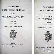 Libros antiguos: VILLANUEVA, JAIME. VIAGE A GERONA. VIAGE LITERARIO A LAS IGLESIAS DE ESPAÑA. TOMOS XIII Y XIV. 1850.. Lote 116315539