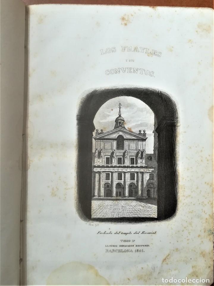 Libros antiguos: LIBRO SIGLOXIX,LOS FRAILES Y SUS CONVENTOS,AÑO 1851,TOMOII,HOGUERA CABALLEROS TEMPLARIOS,INQUISICION - Foto 6 - 116364059