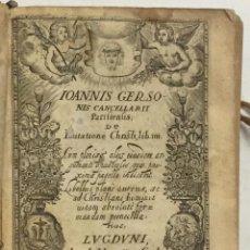 Libros antiguos: DE IMITATIONE CHRISTI, LIBRI IIII. CUM PLERISQUE ALIIS EIUSDEM ARGUMENTI OPUSCULIS, QUAE PROXIMA PAG. Lote 114798574