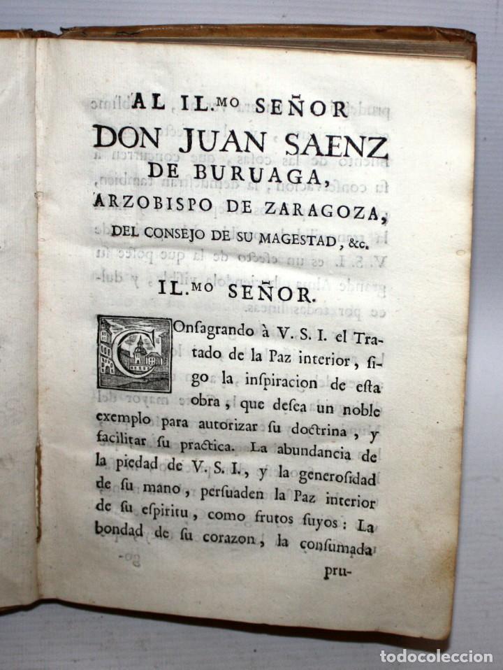 Libros antiguos: LA PAZ INTERIOR POR AMBROSIO DE LOMBEZ . IMPRENTA DE FRANCISCO MORENO DEL AÑO 1771 - Foto 2 - 116647767