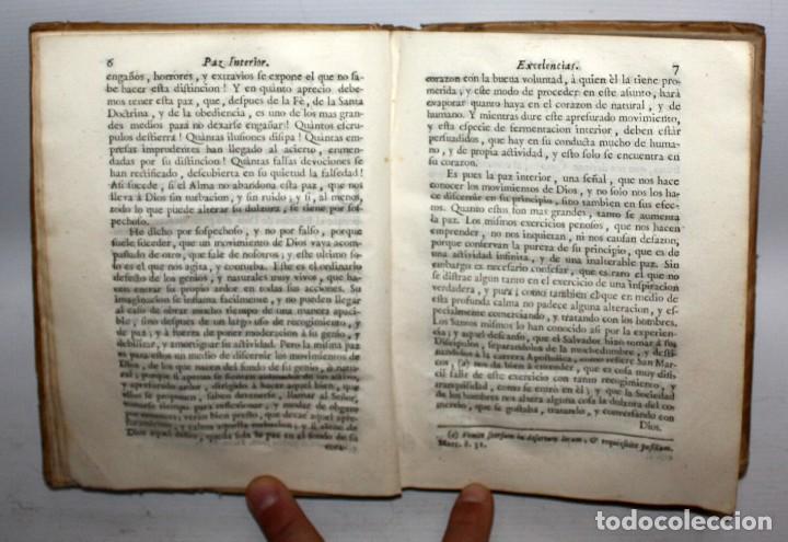 Libros antiguos: LA PAZ INTERIOR POR AMBROSIO DE LOMBEZ . IMPRENTA DE FRANCISCO MORENO DEL AÑO 1771 - Foto 3 - 116647767