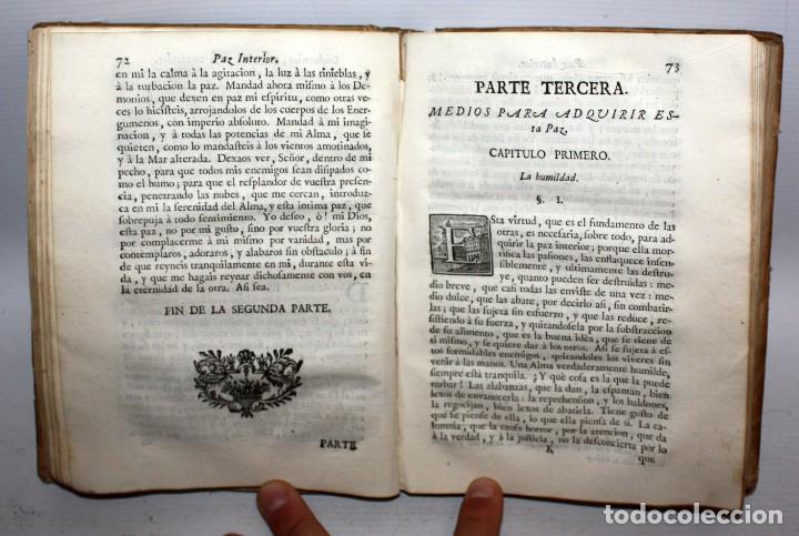 Libros antiguos: LA PAZ INTERIOR POR AMBROSIO DE LOMBEZ . IMPRENTA DE FRANCISCO MORENO DEL AÑO 1771 - Foto 4 - 116647767