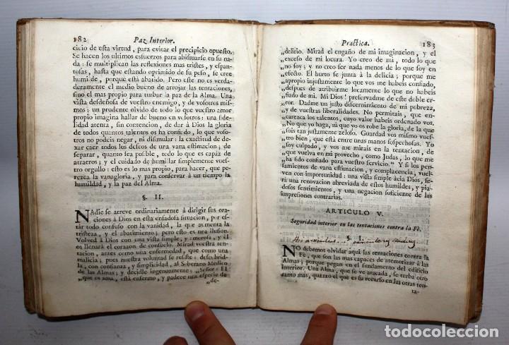 Libros antiguos: LA PAZ INTERIOR POR AMBROSIO DE LOMBEZ . IMPRENTA DE FRANCISCO MORENO DEL AÑO 1771 - Foto 5 - 116647767