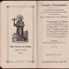 Libros antiguos: TESORO ANTONIANO - SAN ANTONIO DE PADUA - CASA EDITORIAL E. LOPEZ 1926. Lote 116780631