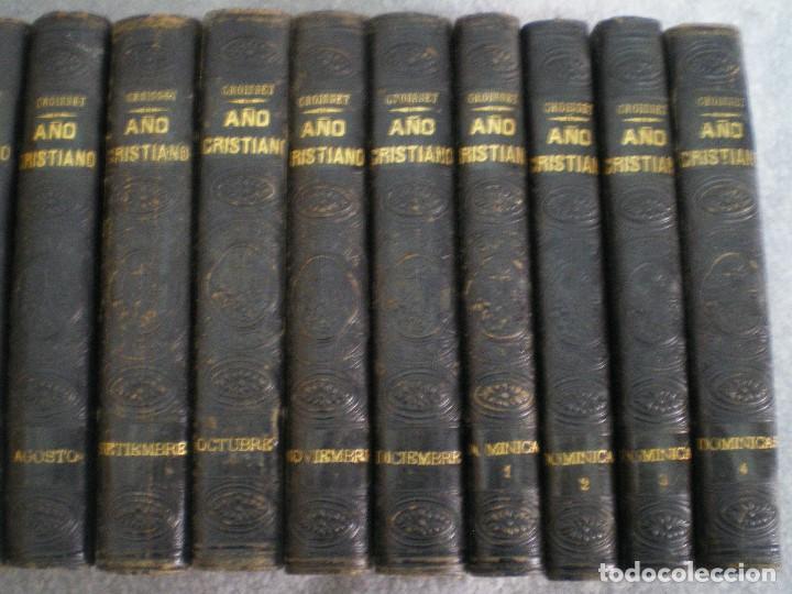 Libros antiguos: AÑO CRISTIANO COMPLETO, 16 TOMOS: 12 MESES + 4 DOMINICAS. JUAN CROISSET. BARCELONA 1882 - Foto 5 - 116900375