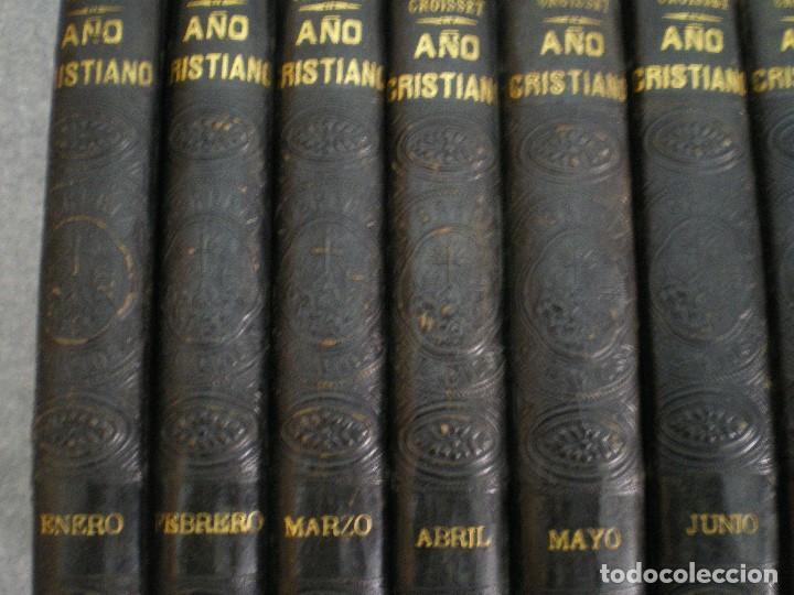 Libros antiguos: AÑO CRISTIANO COMPLETO, 16 TOMOS: 12 MESES + 4 DOMINICAS. JUAN CROISSET. BARCELONA 1882 - Foto 6 - 116900375