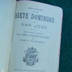 Libros antiguos: 7 DOMINGOS DE SAN JOSÉ 1.920. Lote 116903335