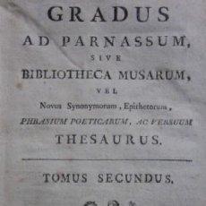 Libros antiguos: GRADUS AD PARNASSUM SIVE BIBLIOTHECA MUSARUM - AÑO 1741 . Lote 116959823