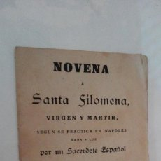 Libros antiguos: NOVENA A SANTA FILOMENA. Lote 116999095