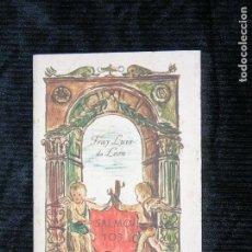Libros antiguos: F1 FRAY LUIS DE LEON SALOMO 103 EDICION PRINCIPE . Lote 117658183