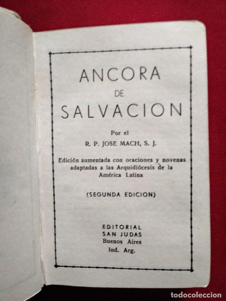 Libros antiguos: 1949 Ancora de salvación. Preciosa encuadernación. Nihil Obstat Vesar F. Pedotti. Antonio Rocca - Foto 5 - 117919979