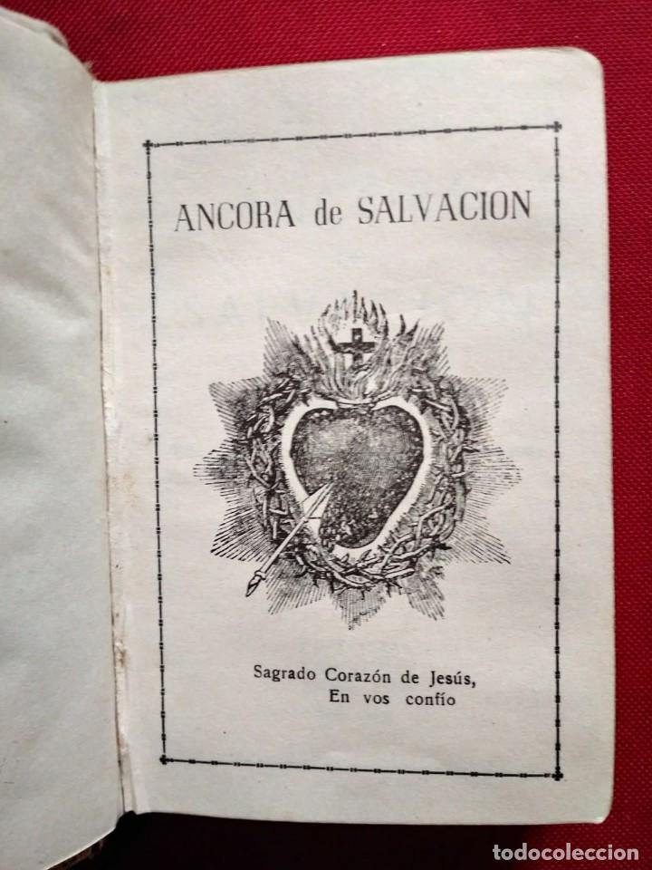Libros antiguos: 1949 Ancora de salvación. Preciosa encuadernación. Nihil Obstat Vesar F. Pedotti. Antonio Rocca - Foto 6 - 117919979