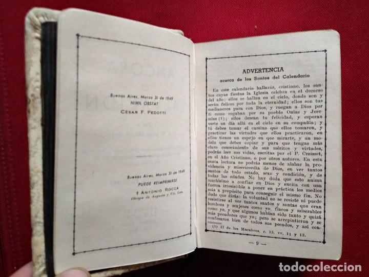 Libros antiguos: 1949 Ancora de salvación. Preciosa encuadernación. Nihil Obstat Vesar F. Pedotti. Antonio Rocca - Foto 7 - 117919979