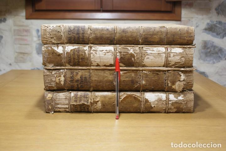 4 LIBROS SIGLO XVI. 1581. PERGAMINO. D. IOANNIS CHRYSOSTOMI ARCHIEPISCOPI CONSTANTINOPOLITANI OPERUM (Libros Antiguos, Raros y Curiosos - Religión)