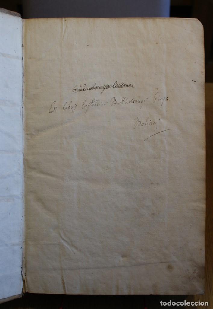 Libros antiguos: 4 LIBROS SIGLO XVI. 1581. PERGAMINO. D. IOANNIS CHRYSOSTOMI ARCHIEPISCOPI CONSTANTINOPOLITANI OPERUM - Foto 5 - 118003707