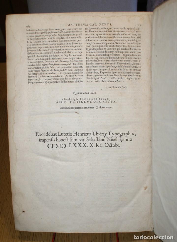 Libros antiguos: 4 LIBROS SIGLO XVI. 1581. PERGAMINO. D. IOANNIS CHRYSOSTOMI ARCHIEPISCOPI CONSTANTINOPOLITANI OPERUM - Foto 9 - 118003707