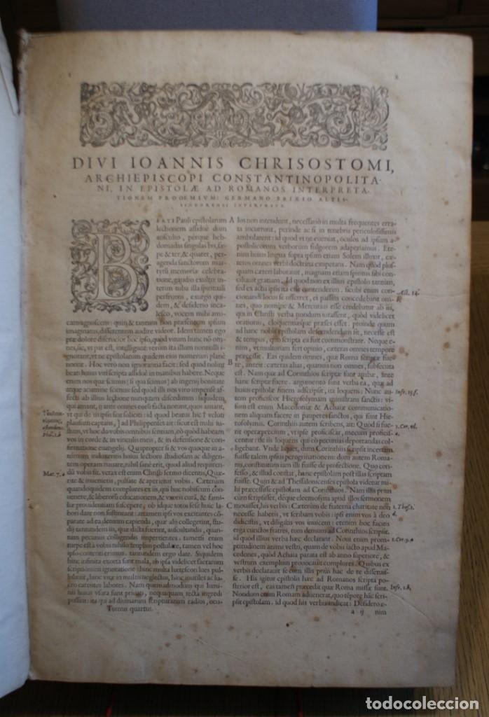 Libros antiguos: 4 LIBROS SIGLO XVI. 1581. PERGAMINO. D. IOANNIS CHRYSOSTOMI ARCHIEPISCOPI CONSTANTINOPOLITANI OPERUM - Foto 12 - 118003707