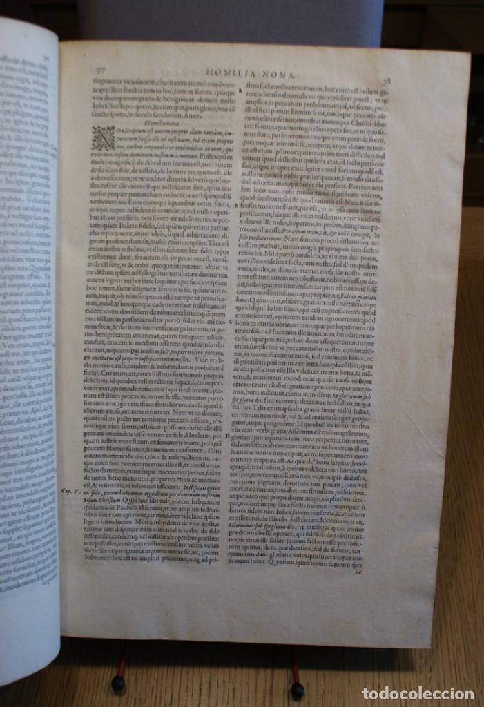 Libros antiguos: 4 LIBROS SIGLO XVI. 1581. PERGAMINO. D. IOANNIS CHRYSOSTOMI ARCHIEPISCOPI CONSTANTINOPOLITANI OPERUM - Foto 13 - 118003707