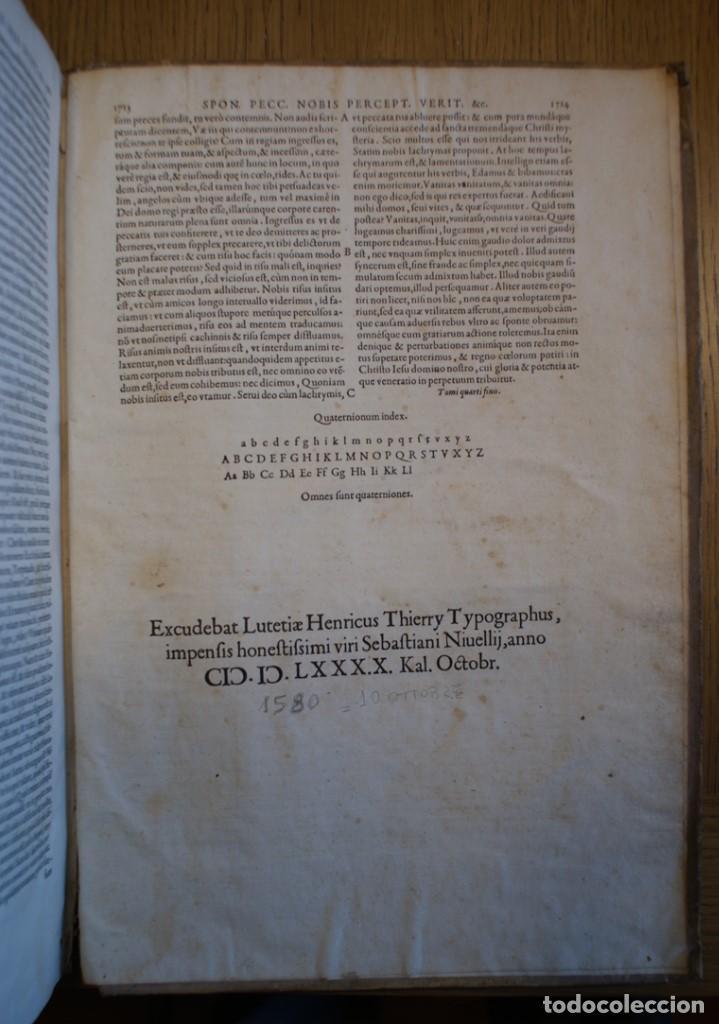 Libros antiguos: 4 LIBROS SIGLO XVI. 1581. PERGAMINO. D. IOANNIS CHRYSOSTOMI ARCHIEPISCOPI CONSTANTINOPOLITANI OPERUM - Foto 14 - 118003707
