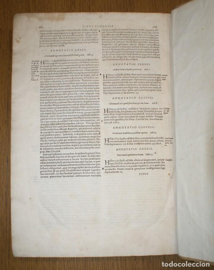 Libros antiguos: 4 LIBROS SIGLO XVI. 1581. PERGAMINO. D. IOANNIS CHRYSOSTOMI ARCHIEPISCOPI CONSTANTINOPOLITANI OPERUM - Foto 19 - 118003707