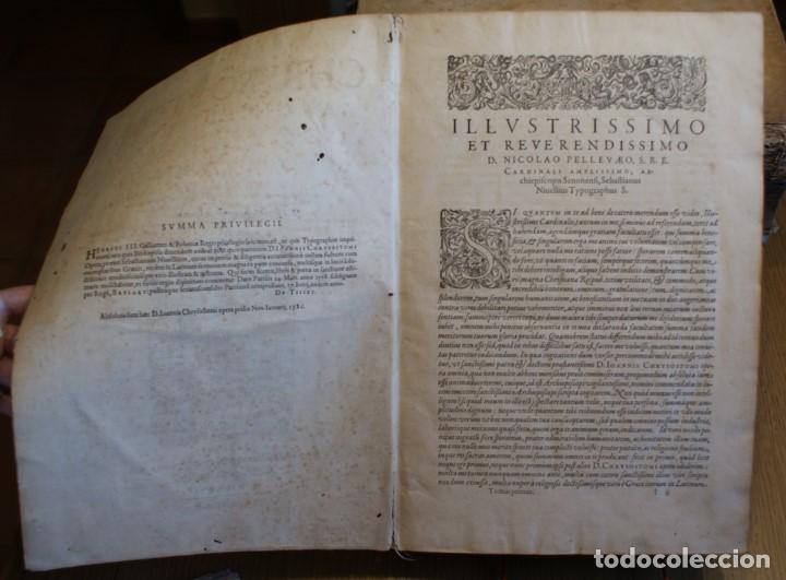 Libros antiguos: 4 LIBROS SIGLO XVI. 1581. PERGAMINO. D. IOANNIS CHRYSOSTOMI ARCHIEPISCOPI CONSTANTINOPOLITANI OPERUM - Foto 21 - 118003707