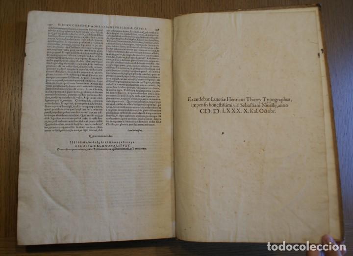 Libros antiguos: 4 LIBROS SIGLO XVI. 1581. PERGAMINO. D. IOANNIS CHRYSOSTOMI ARCHIEPISCOPI CONSTANTINOPOLITANI OPERUM - Foto 26 - 118003707