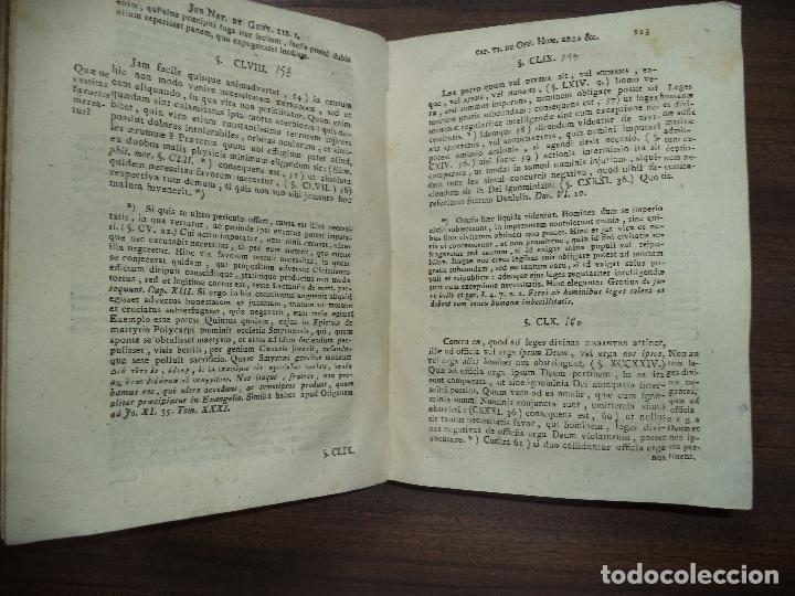 Libros antiguos: JOAN GOTTLIEB HEINECCII. ELEMENTA JURIS NATURE ET GENTIUM. CASTIGATIONIBUS EX CATHOLICORUM . 1789. - Foto 3 - 118520407