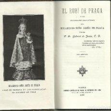 Libros antiguos: EL RUBÍ DE PRAGA, MADRID 1920. Lote 118736655