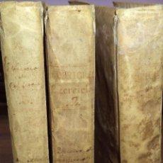 Libros antiguos: EXERCICIO DE PERFECCION Y VIRTUDES CHRISTIANAS. EL PADRE ALONSO RODRIGUEZ. OBRA EN TRES TOMOS.. Lote 119070635