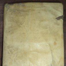 Libros antiguos: RETIRO ESPIRITUAL. PARA UN DIA CADA MES. FALTA FRONTISPICIO. ENCUADERNACION EN PERGAMINO.. Lote 119093395