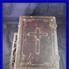 Libros antiguos: GRAN LIBRO MISSALE ROMANUM 1854 CON GRABADOS, LIBRO MISA REGALO ATRIL. Lote 119105863
