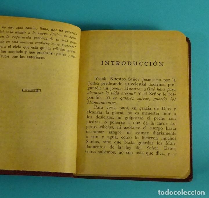Libros antiguos: LOS MANDAMIENTOS. EXPLICACIÓN BREVE Y COMPLETA DE LOS DIVINOS PRECEPTOS CON EJEMPLOS ( L06 ) - Foto 3 - 148978189
