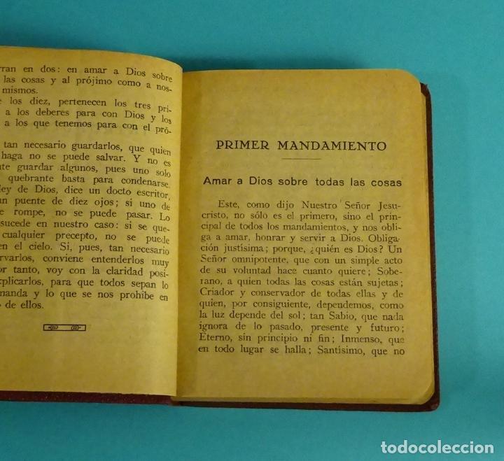 Libros antiguos: LOS MANDAMIENTOS. EXPLICACIÓN BREVE Y COMPLETA DE LOS DIVINOS PRECEPTOS CON EJEMPLOS ( L06 ) - Foto 4 - 148978189