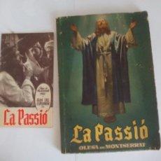 Libri antichi: LA PASSIO DE OLESA DE MONTSERRAT 1955=. Lote 120493075