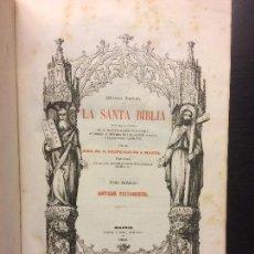 Libros antiguos: LA SANTA BIBLIA, FELIPE SCIO DE SAN MIGUEL, TOMOS 1 A 4 ANTIGUO TESTAMENTO, 1852. Lote 121162815