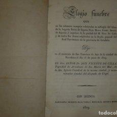 Libros antiguos: ELOGIO FUNEBRE POR EL ALMA REINA ESPAÑA VICENTE DE CILLA 1829 BARCELONA. Lote 121292259