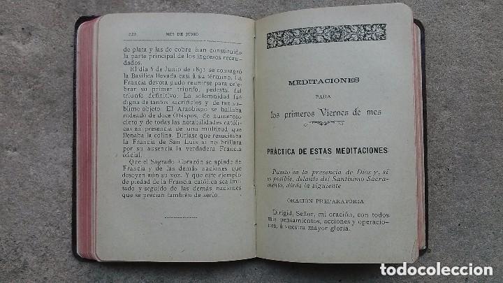 Libros antiguos: LIBRO TESORO DEL ALMA DEVOTA... AÑO 1897 . TAPAS EN PIEL - Foto 7 - 121404395