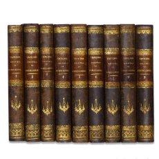 Libros antiguos: TRONCOSO (JUAN).– NOVÍSIMA BIBLIOTECA DE PREDICADORES [9 TOMOS]. 1854-1856. EN PIEL.. Lote 122079340