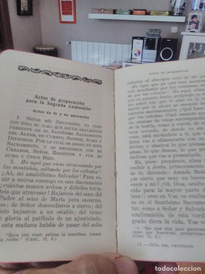 Libros antiguos: guia del cristiano devocionario popular - Foto 2 - 122220819
