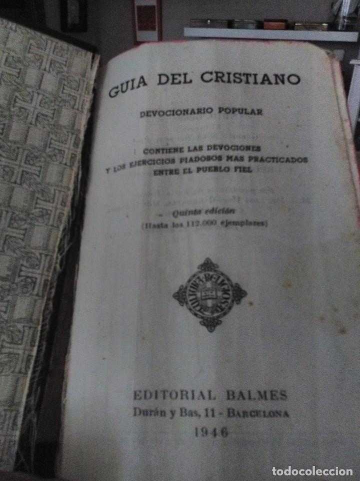 Libros antiguos: guia del cristiano devocionario popular - Foto 3 - 122220819