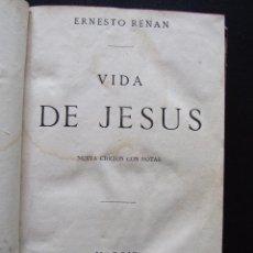 Libros antiguos: VIDA DE JESÚS. ERNESTO RENAN. 1869.. Lote 122463855