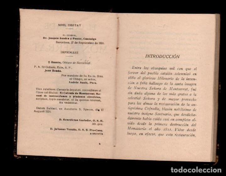Libros antiguos: C13-EL COFRADE DE MONTSERRAT . MANUAL DE INSTRUCCIONES Y PIADOSOS EJERCICIOS... Edicion Oficial del - Foto 3 - 117040775