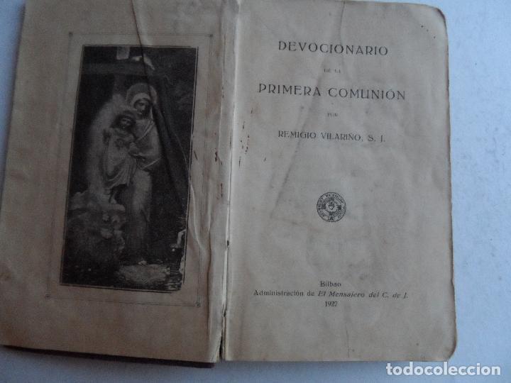 DEVOCIONARIO DE LA PRIMERA COMUNION POR REMIGIO VILARIÑO S.J. 1927 (Libros Antiguos, Raros y Curiosos - Religión)