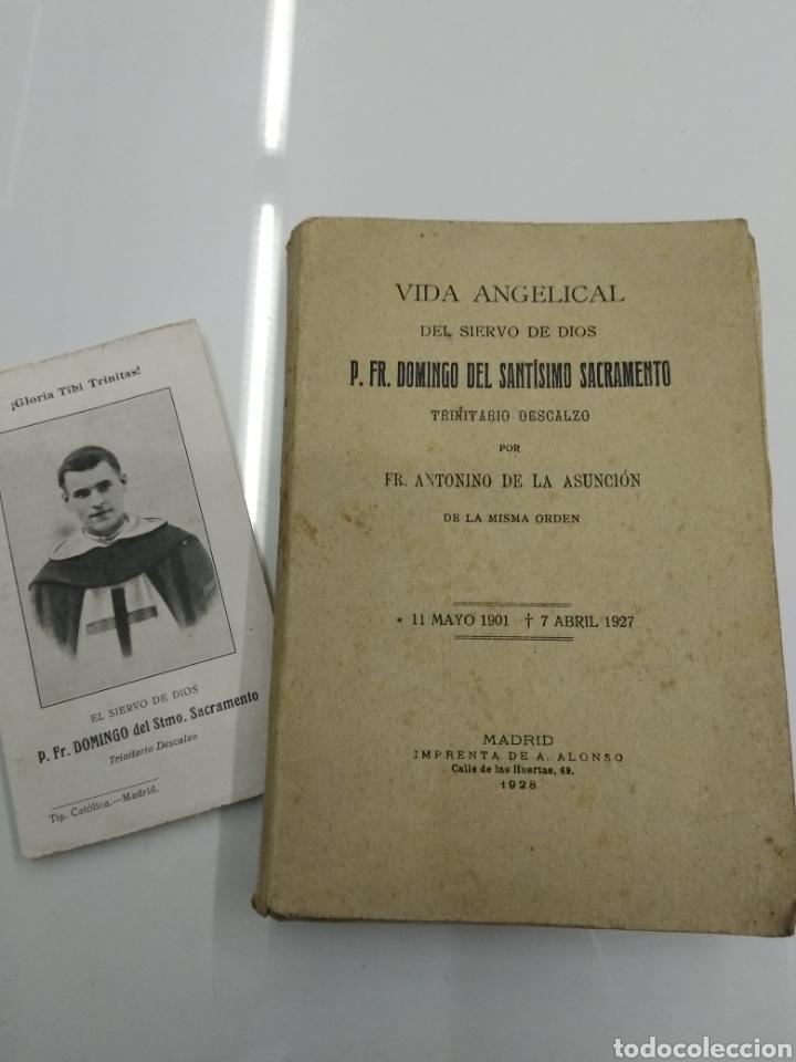 VIDA ANGELICAL DEL SIERVO DE DIOS P. FR. DOMINGO DEL SANTISIMO SACRAMENTO TRINITARIO 1928 (Libros Antiguos, Raros y Curiosos - Religión)