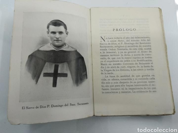 Libros antiguos: VIDA ANGELICAL DEL SIERVO DE DIOS P. FR. DOMINGO DEL SANTISIMO SACRAMENTO TRINITARIO 1928 - Foto 3 - 123261300