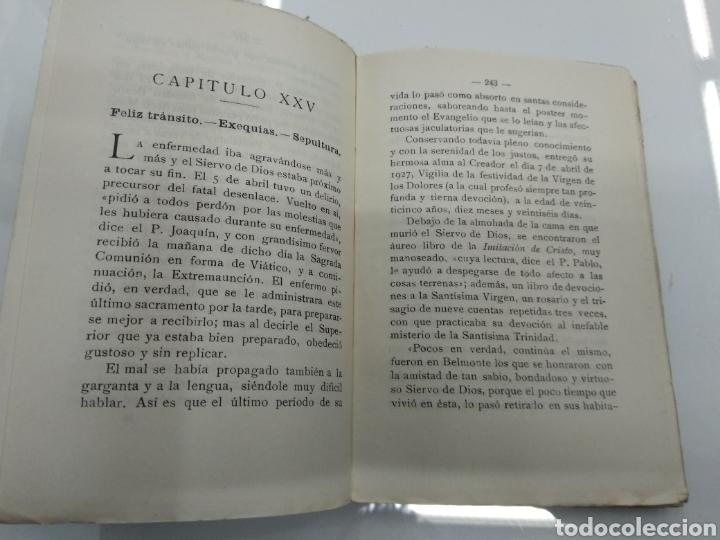 Libros antiguos: VIDA ANGELICAL DEL SIERVO DE DIOS P. FR. DOMINGO DEL SANTISIMO SACRAMENTO TRINITARIO 1928 - Foto 7 - 123261300