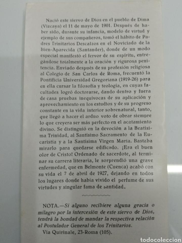 Libros antiguos: VIDA ANGELICAL DEL SIERVO DE DIOS P. FR. DOMINGO DEL SANTISIMO SACRAMENTO TRINITARIO 1928 - Foto 8 - 123261300