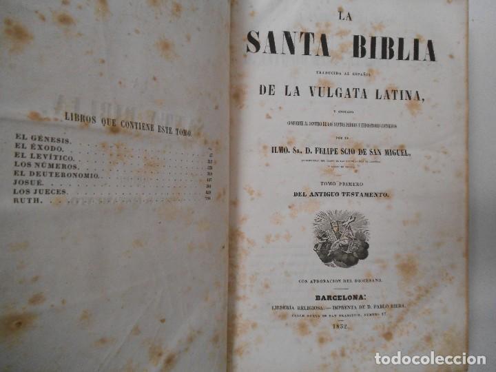 Old books: La Santa Biblia - 1852 - Completa - Laminas Grabados Mapas - Gofrada - P. Riera - Foto 5 - 124025171
