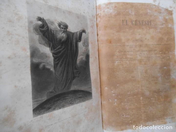 Old books: La Santa Biblia - 1852 - Completa - Laminas Grabados Mapas - Gofrada - P. Riera - Foto 6 - 124025171