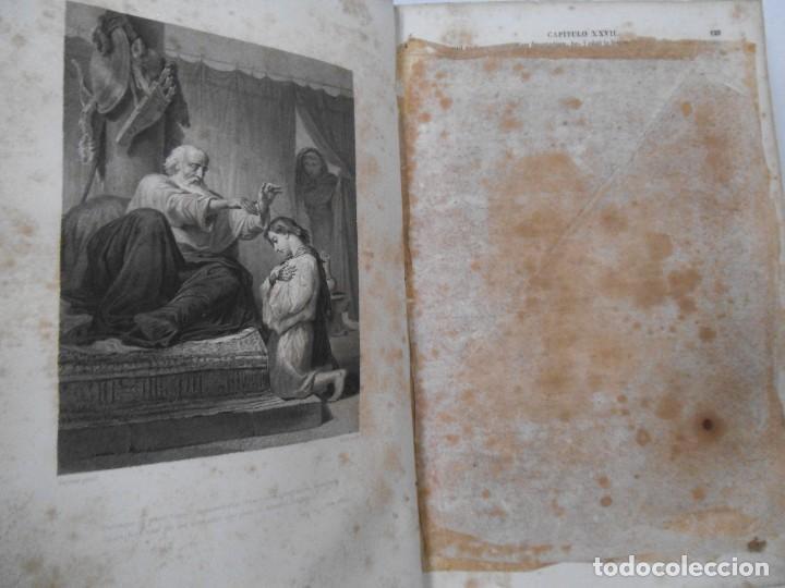 Old books: La Santa Biblia - 1852 - Completa - Laminas Grabados Mapas - Gofrada - P. Riera - Foto 9 - 124025171